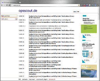 Website-Screenshot für opsscout.de